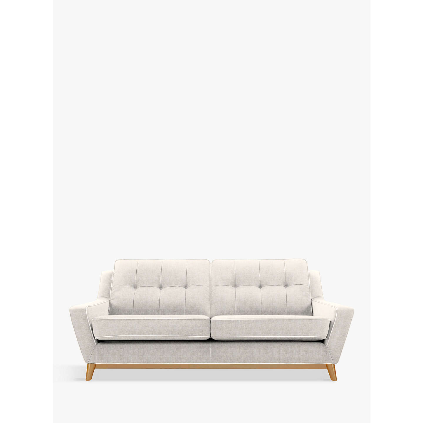 BuyG Plan Vintage The Fifty Three Large 3 Seater Sofa, Marl Cream Online at johnlewis ...