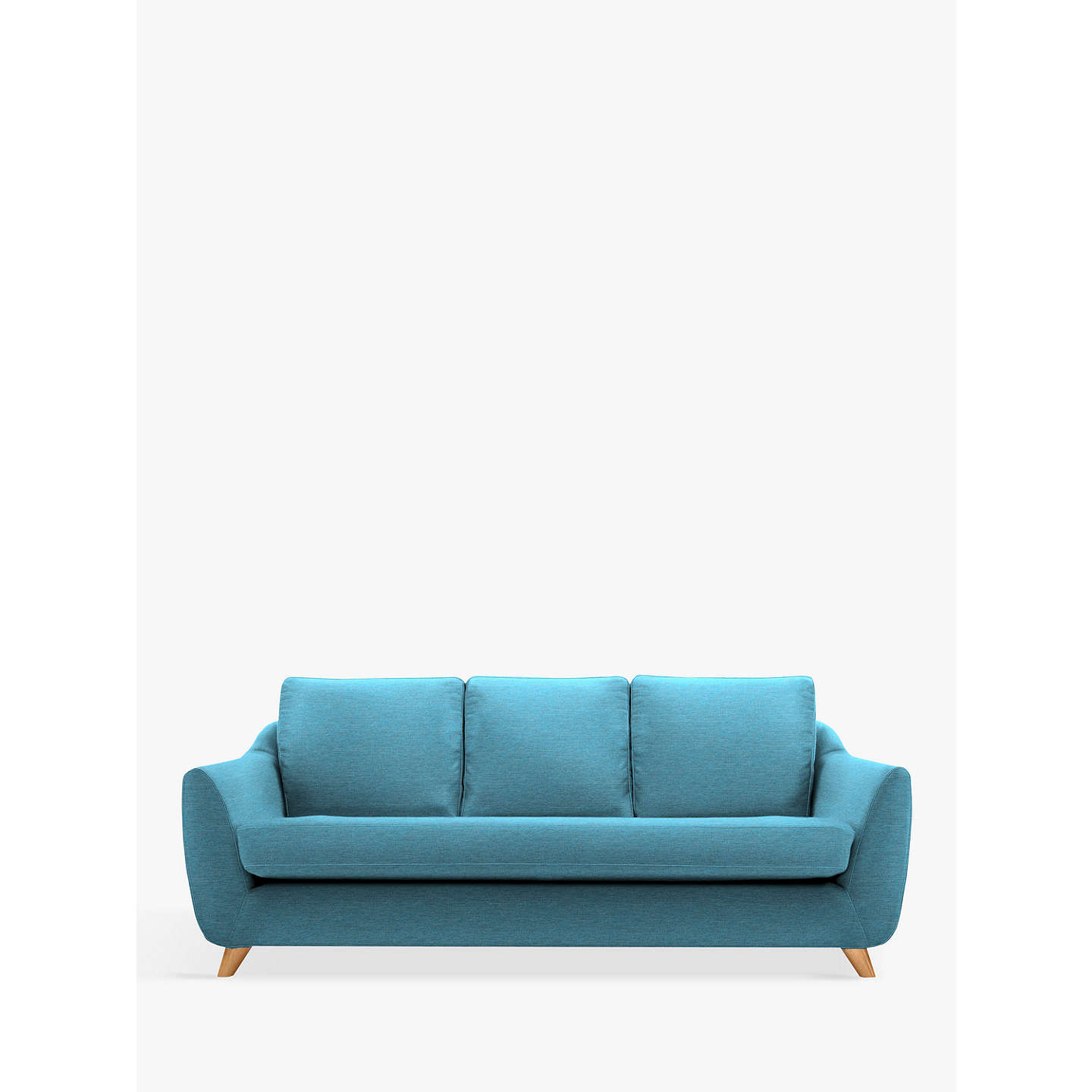 G Plan Vintage The Sixty Seven Large 3 Seater Sofa Fleck Blue Online At Johnlewis
