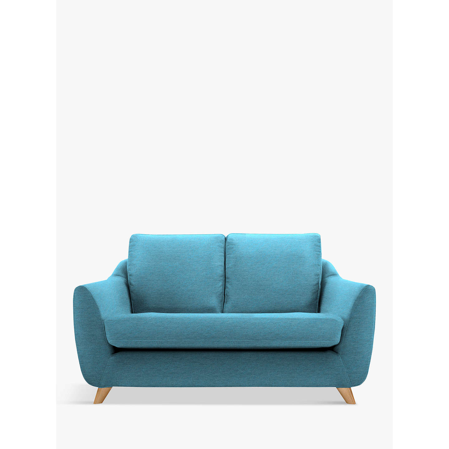 G plan vintage the sixty seven small 2 seater sofa at john for Small blue sofa