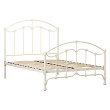 Buy John Lewis Daisy Bed Frame, Cream, Double Online at johnlewis.com