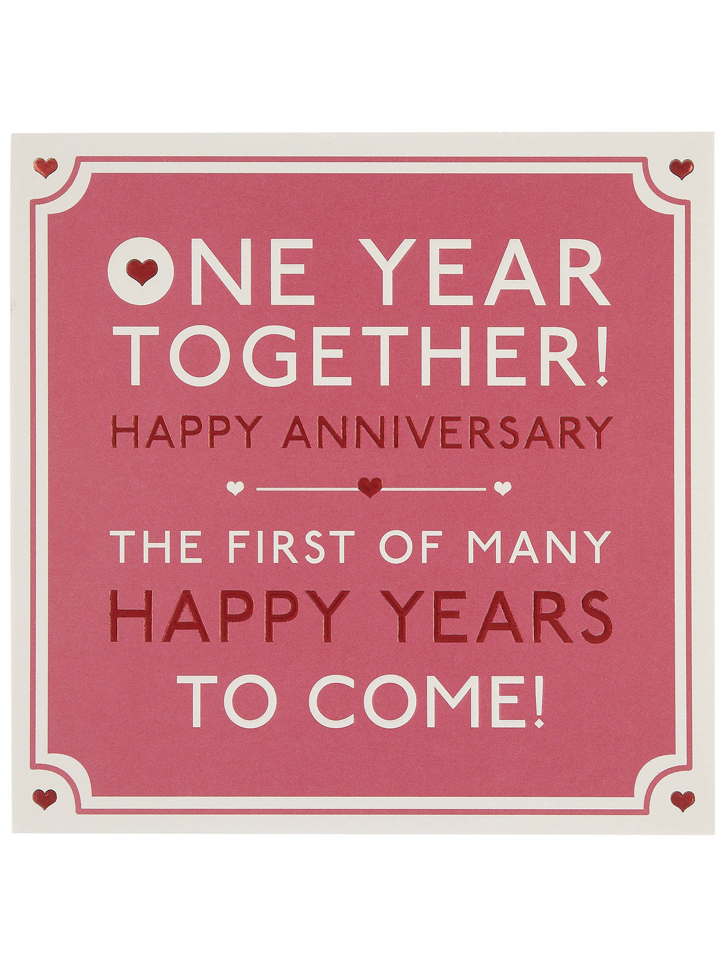 Hotchpotch One Year Together Anniversary Greeting Card At John Lewis