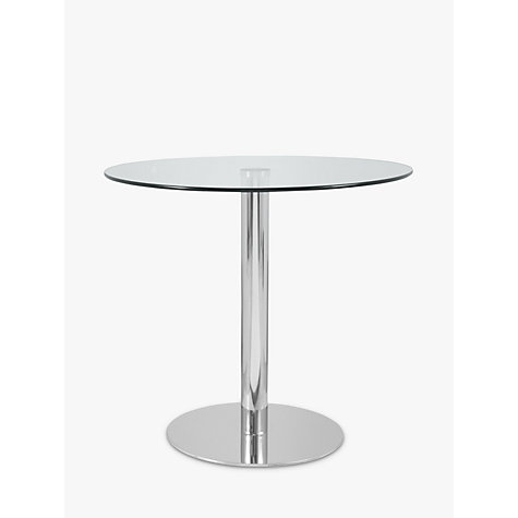 Buy John Lewis Enzo 2-Seater Round Glass Top Dining Table Online at johnlewis.com