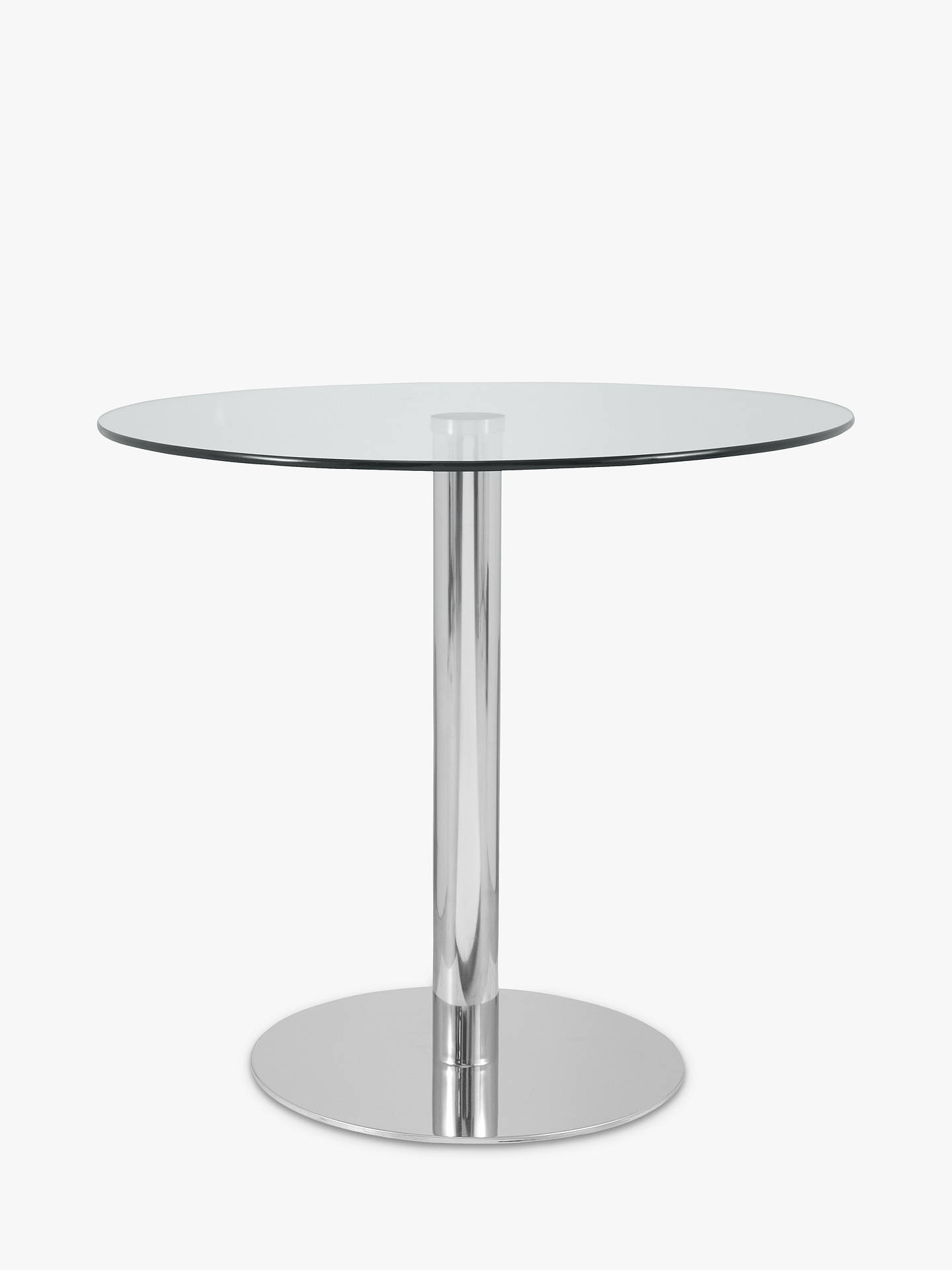 Buy John Lewis & Partners Enzo 2-Seater Round Glass Top Dining Table Online at johnlewis.com