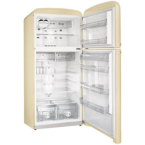 buy smeg fab50p fridge freezer a energy rating 80cm wide cream john lewis. Black Bedroom Furniture Sets. Home Design Ideas