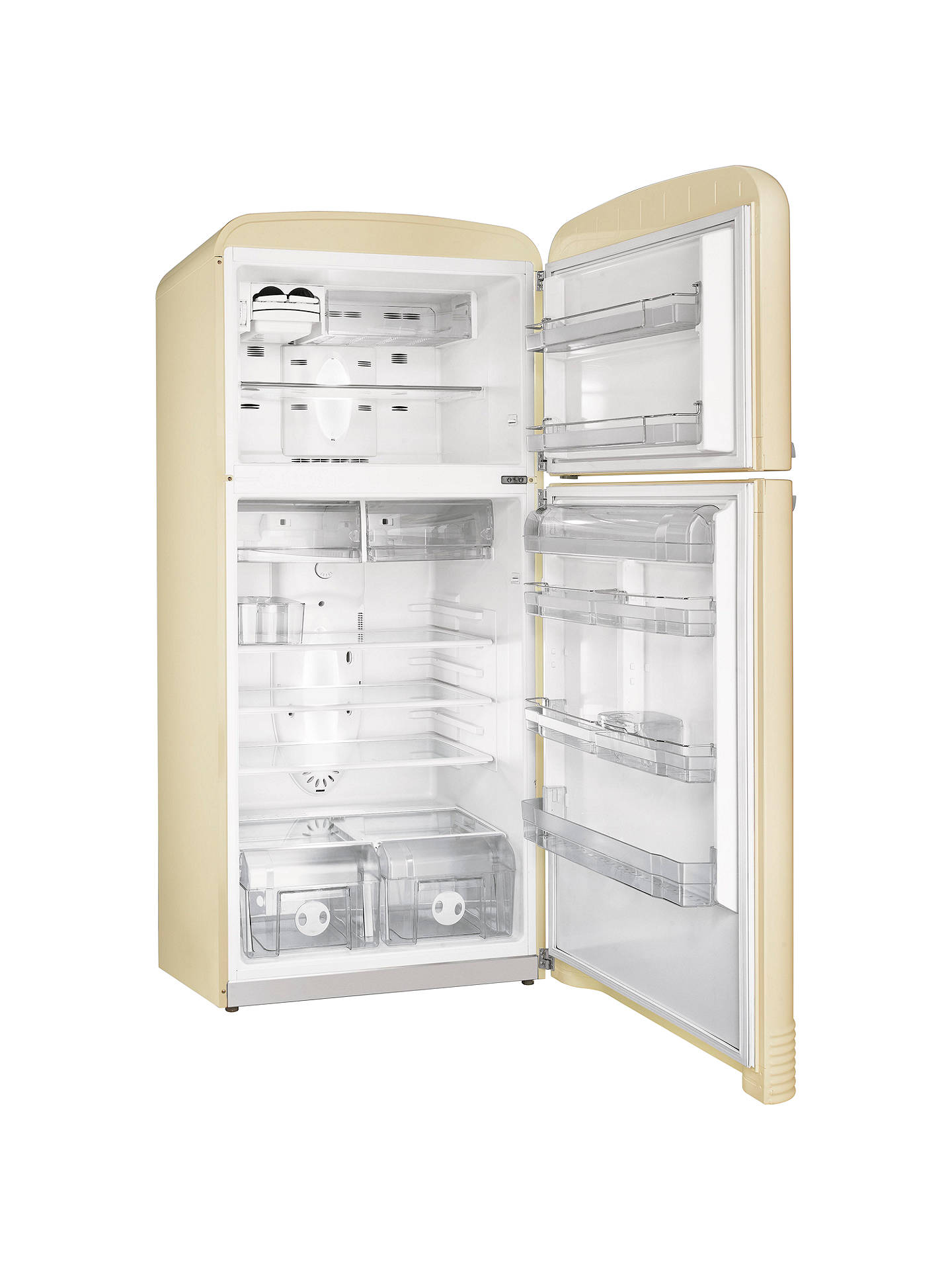 Smeg Fab50p Fridge Freezer A Energy Rating 80cm Wide Cream Online At Johnlewis