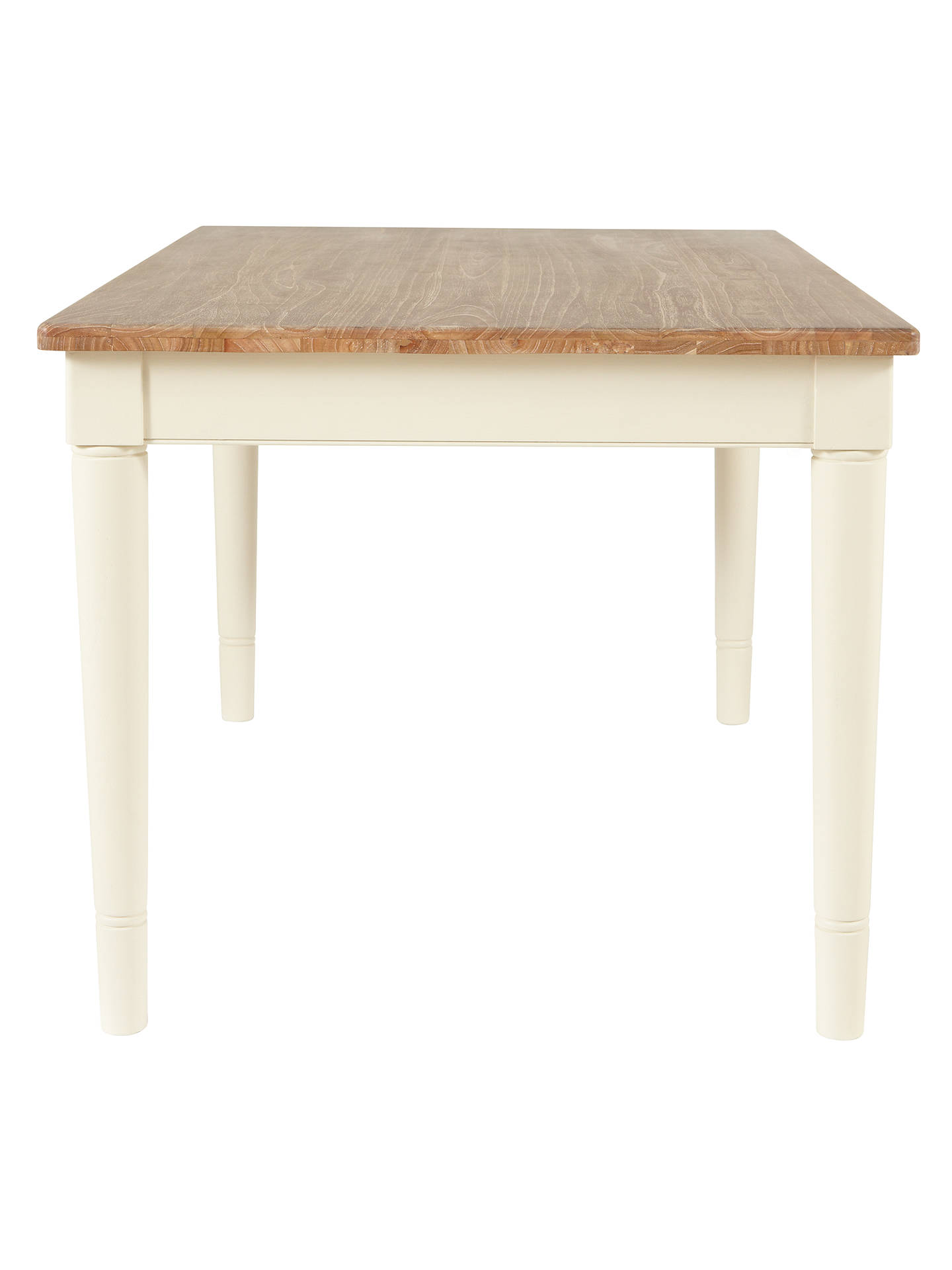 BuyJohn Lewis & Partners Drift Rectangular 6 Seater Dining Table, Cream Online at johnlewis.com
