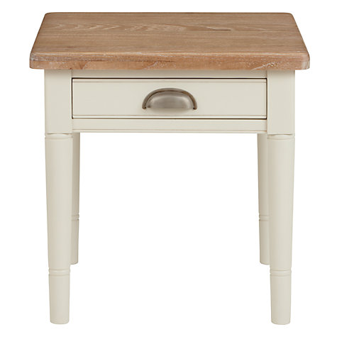 Buy John Lewis Drift Side Table, Cream Online at johnlewis.com