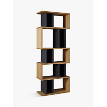 Buy Content by Terence Conran Counterbalance Alcove Shelving, Oak/Charcoal Online at johnlewis.com