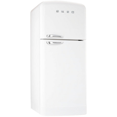 Buy Smeg FAB50B Fridge Freezer, A+ Energy Rating, 80cm Wide, White Online at johnlewis.com