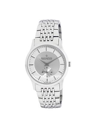 Dreyfuss & Co DGB00001/02 Women's Classic Dual Dial Bracelet Strap Watch, Silver