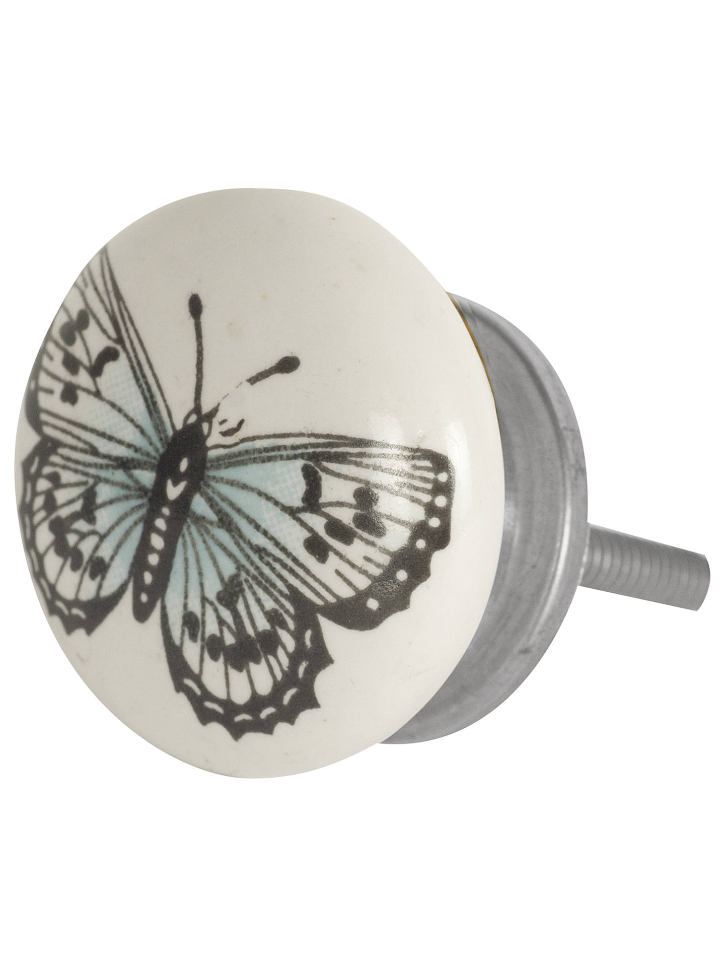 Bombay Duck Butterfly Ceramic Cupboard Knob, White, Dia ...