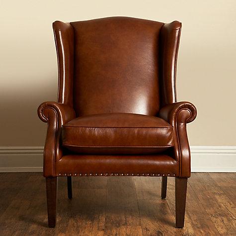 ... Buy John Lewis Charles Leather Armchair, London Saddle Online At  Johnlewis.com ...