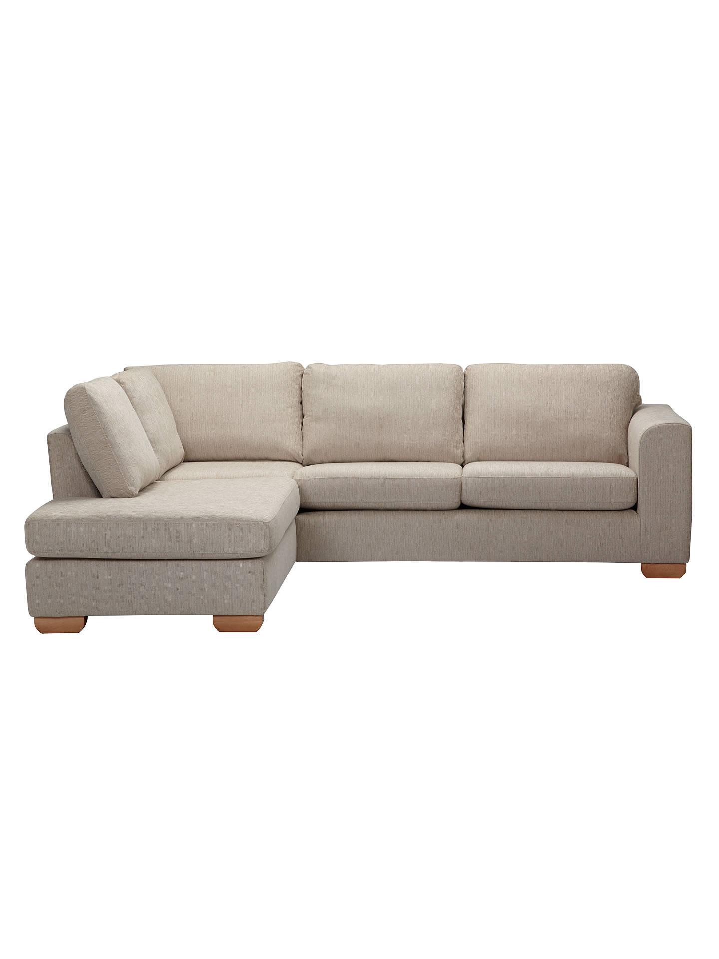 John Lewis Partners Felix Lhf Corner Chaise End Sofa With Light Legs Elena Mocha