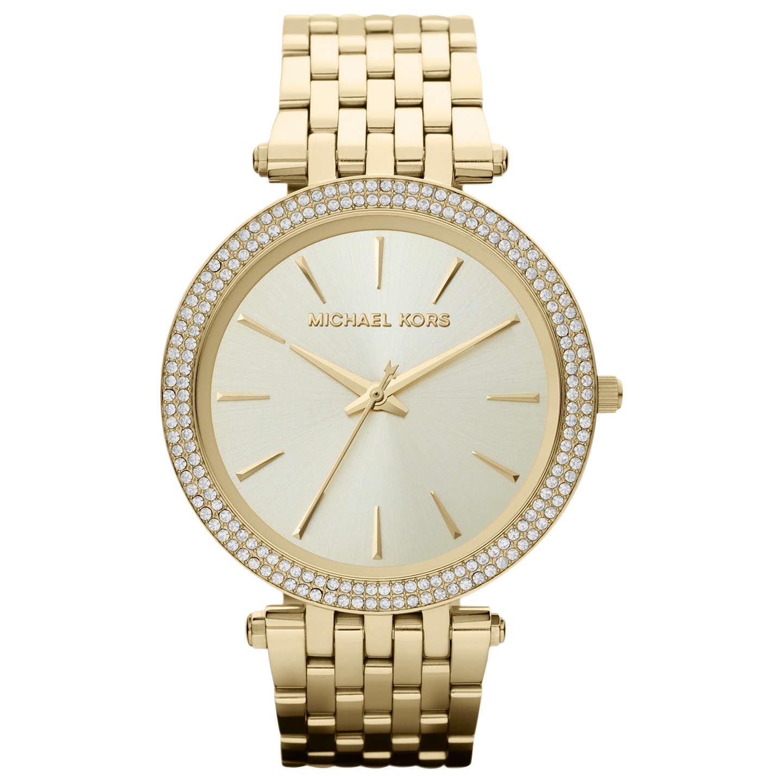 Michael Kors Mk3191 Women S Darci Diamante Bracelet Strap Watch Gold Online At Johnlewis