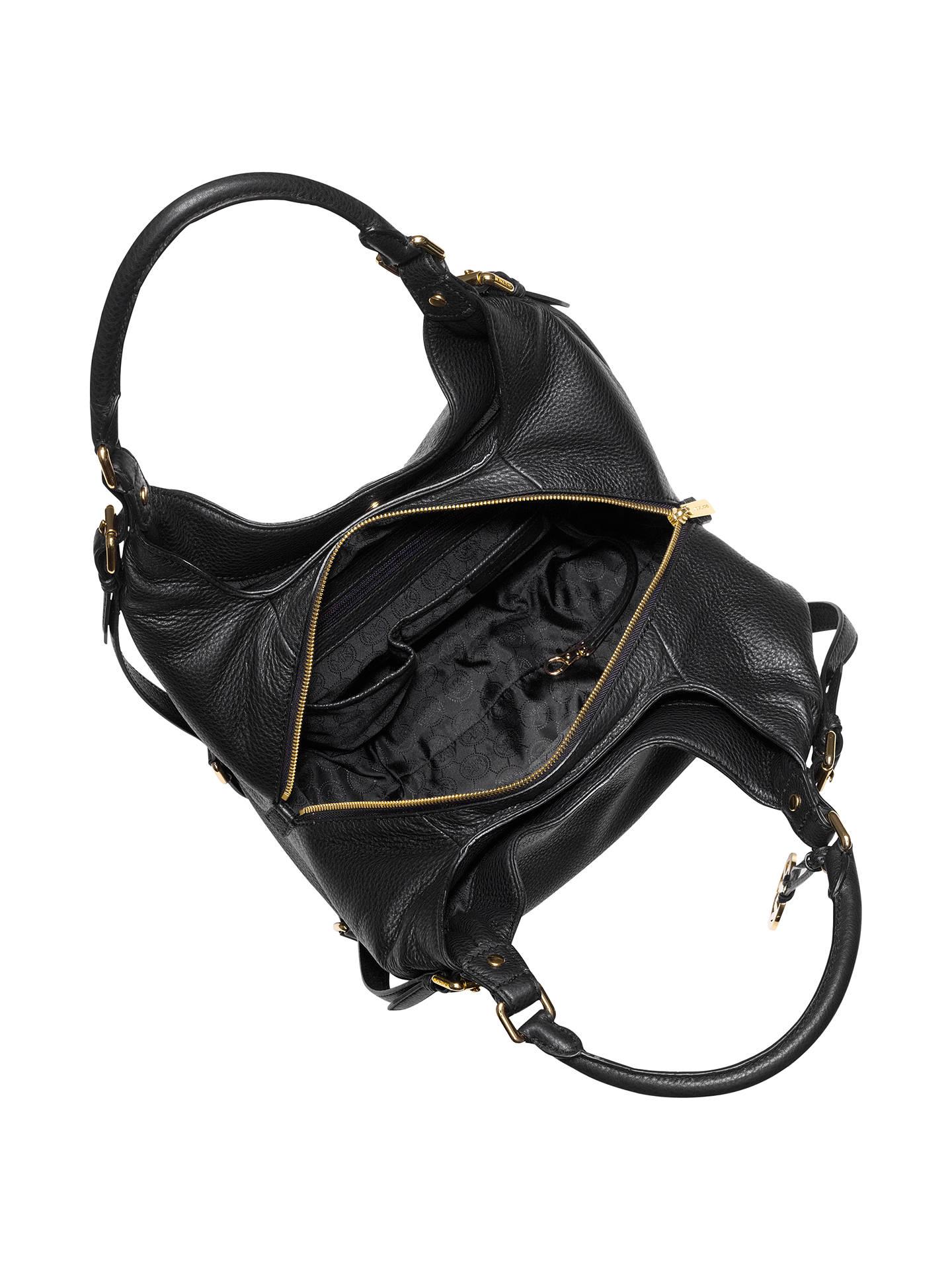 c8ed5d9e8deb Buy MICHAEL Michael Kors Bedford Leather Large Shoulder Tote Bag, Black  Online at johnlewis.