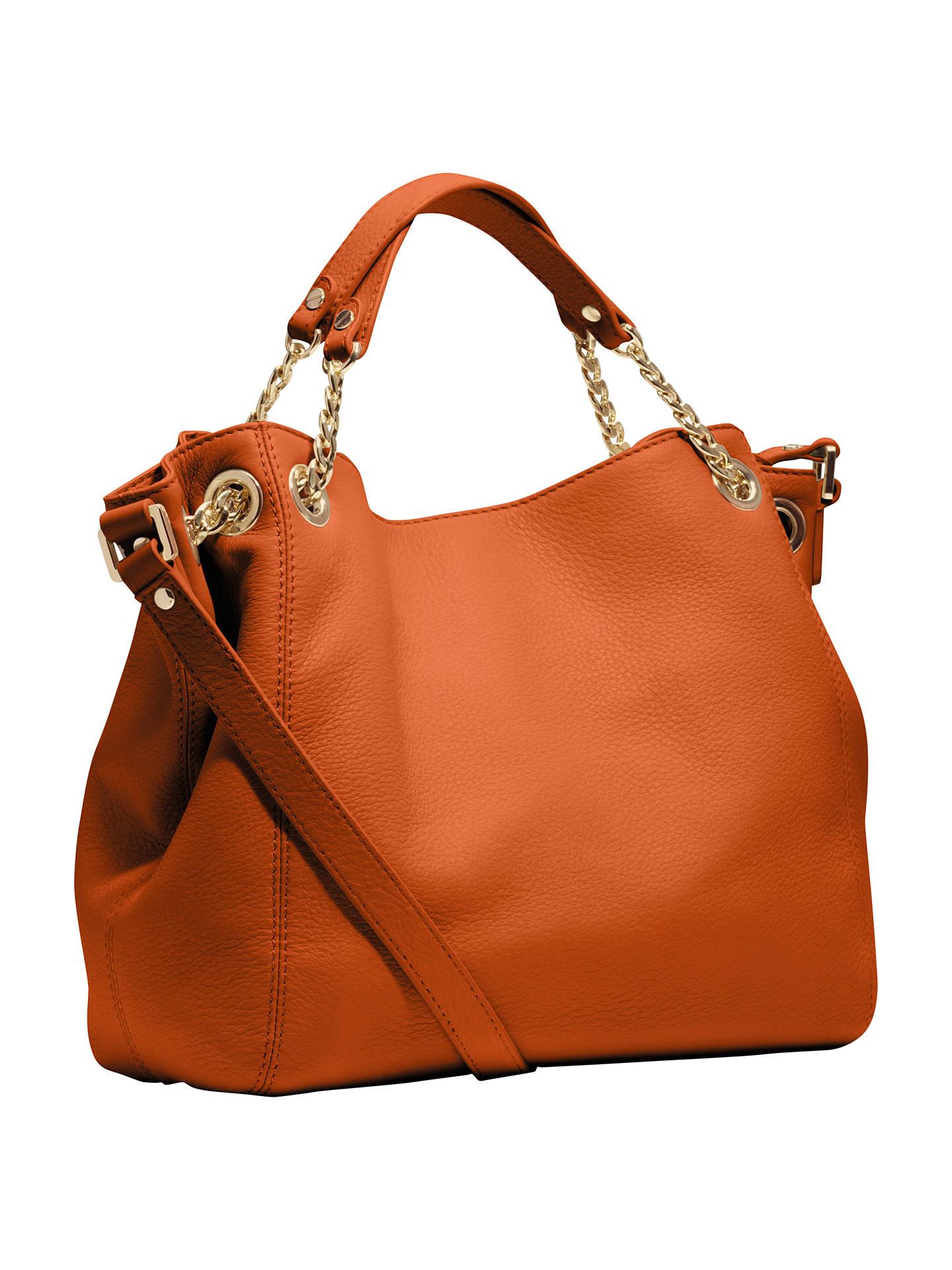 cc82bf235b98 Buy MICHAEL Michael Kors Jet Set Chain Medium Tote Handbag, Tangerine  Online at johnlewis.