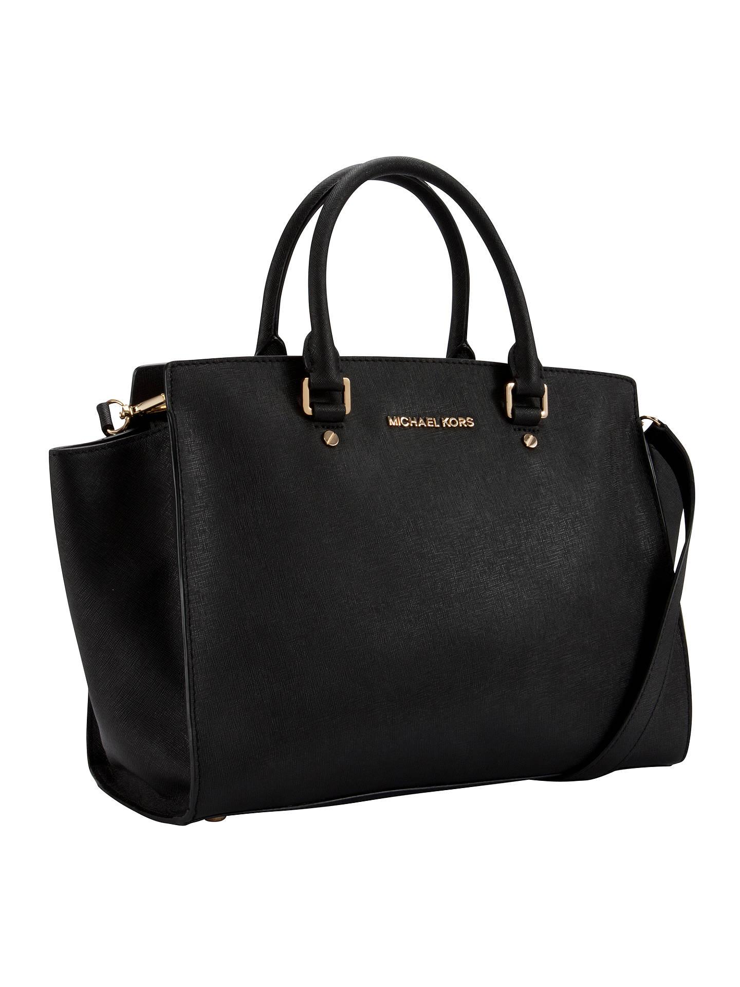 Michael Kors Selma Leather Satchel Bag