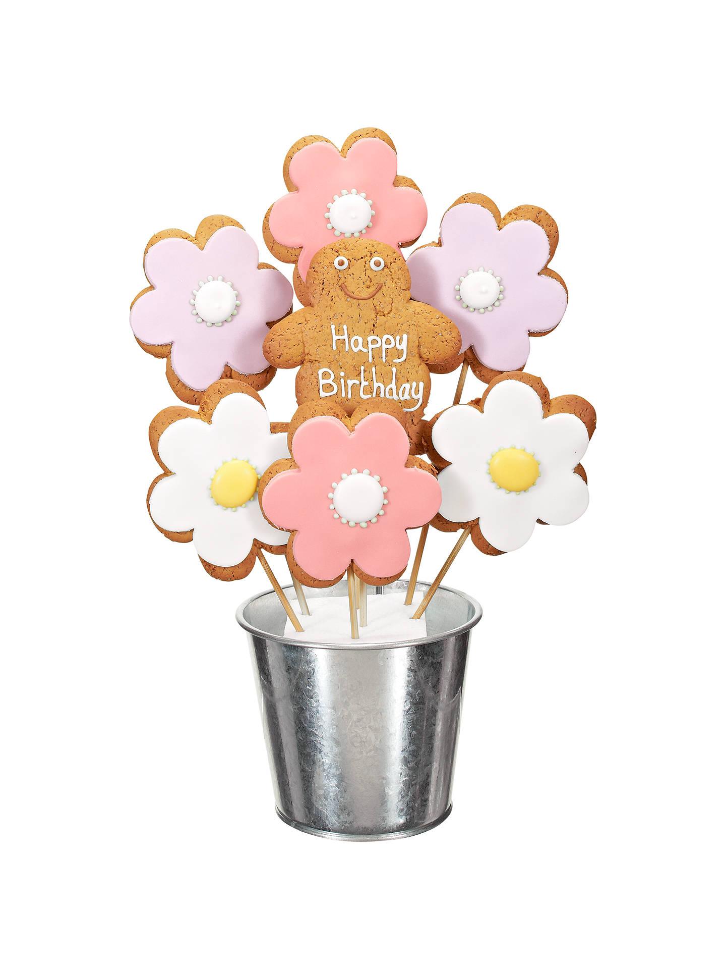 Image on food happy birthday flower gingerbread bouquet 350g at buyimage on food happy birthday flower gingerbread bouquet 350g online at johnlewis izmirmasajfo
