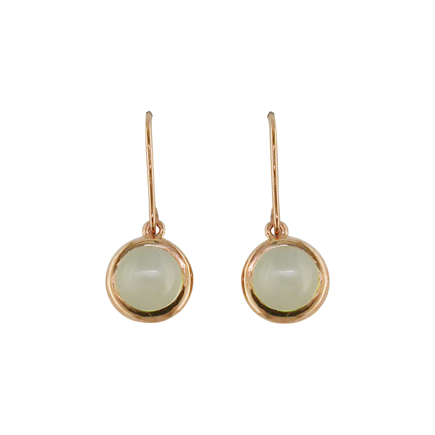 BuyLondon Road 9ct Rose Gold Pimlico Bubble Drop Earrings, Moonstone Online at johnlewis.com