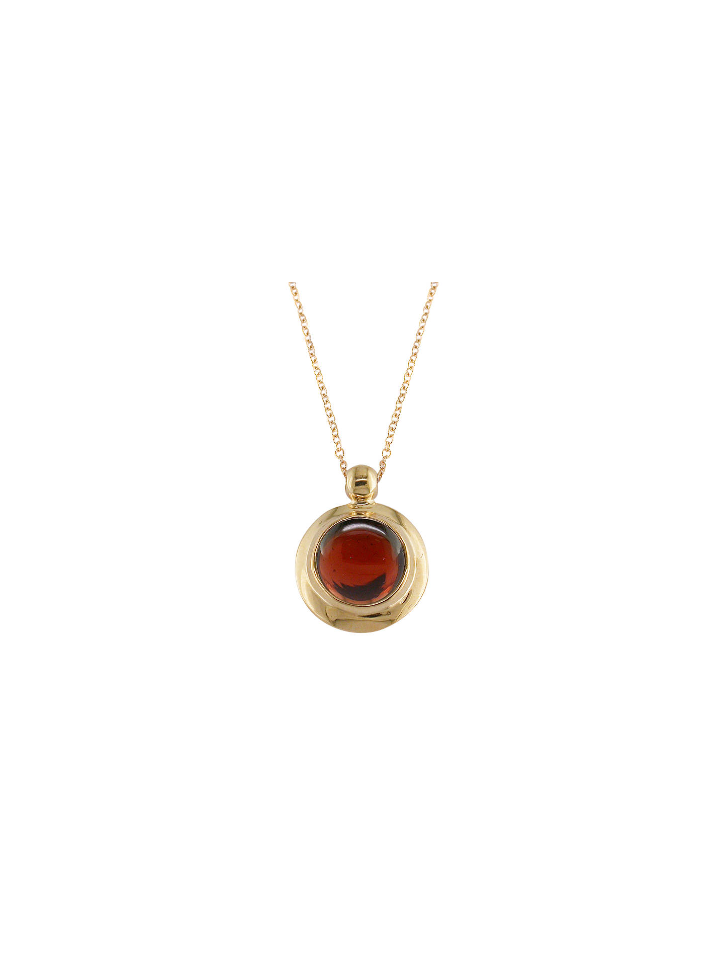 BuyLondon Road 9ct Rose Gold Pimlico Bubble Pendant Necklace, Garnet Online at johnlewis.com