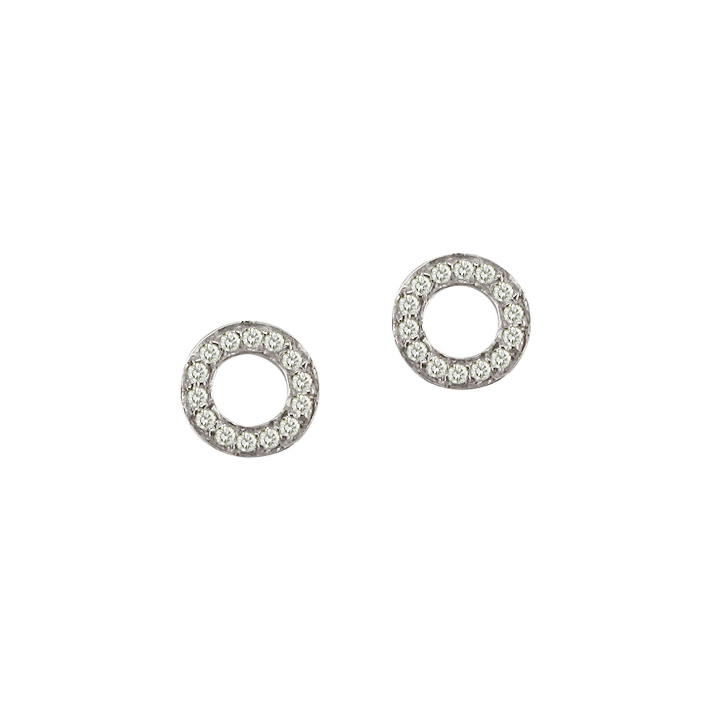 stud earrings silver circle sterling dogeared