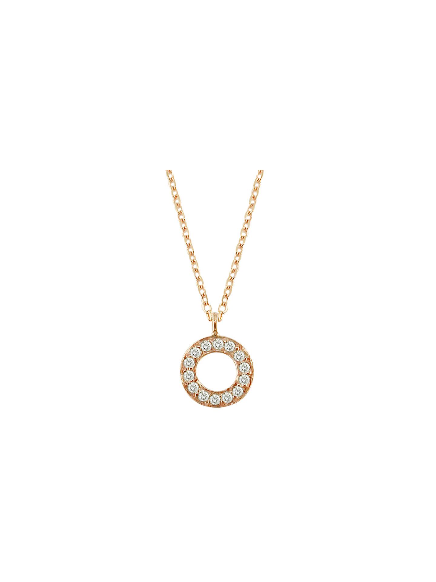 London Road Meridian 9ct Gold Diamond Set Circle Pendant