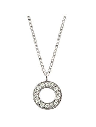London Road Meridian 9ct Gold Diamond Set Circle Pendant