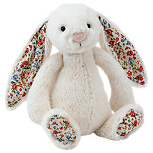 Buy Jellycat Blossom Bunny Soft Toy, Small, Cream Online at johnlewis.com