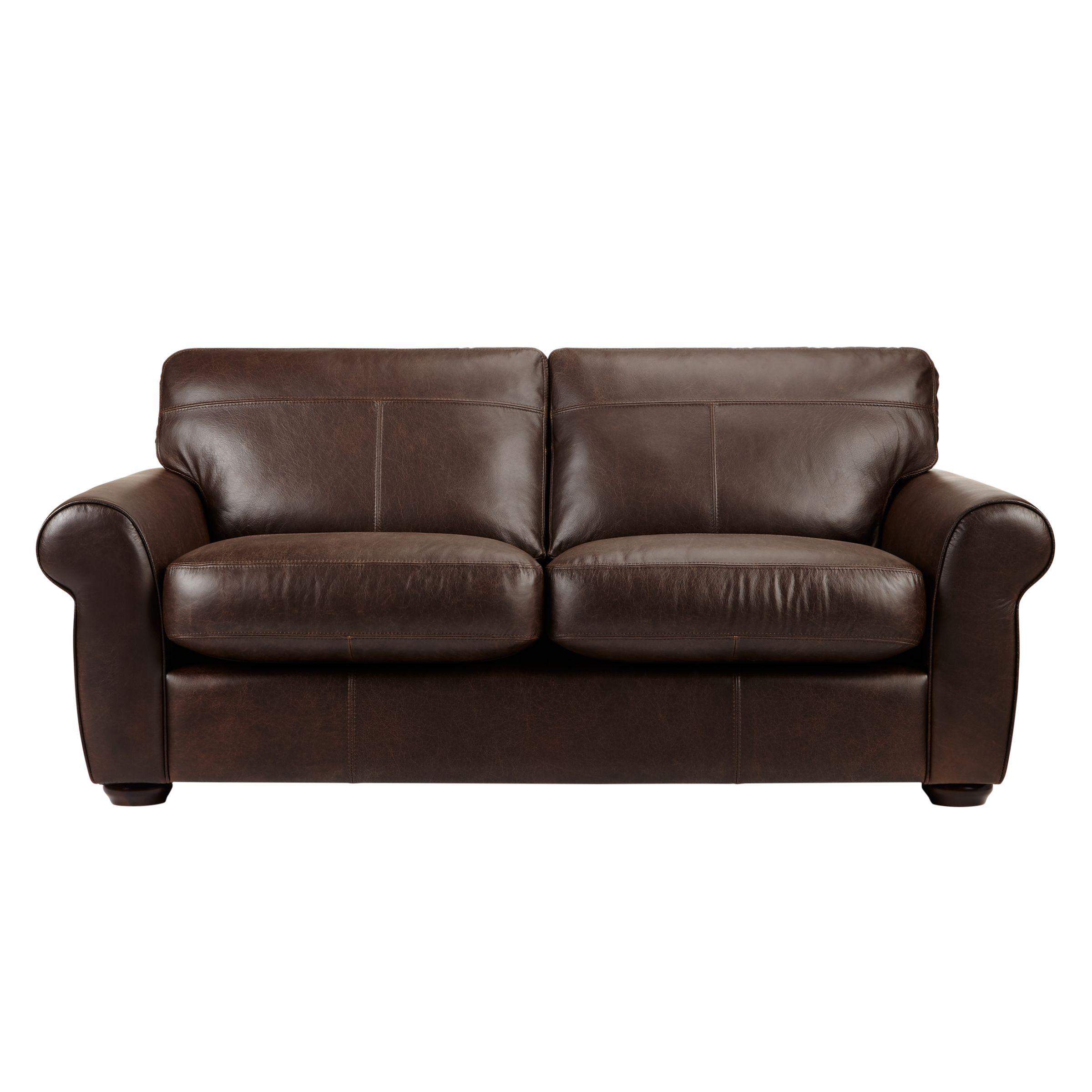 John Lewis Madison Semi-Aniline Large Leather Sofa, Colorado ...