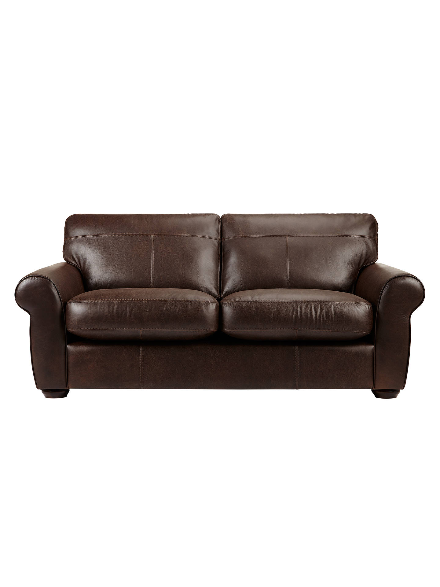 John Lewis Madison Semi Aniline Large Leather Sofa Colorado Online At Johnlewis