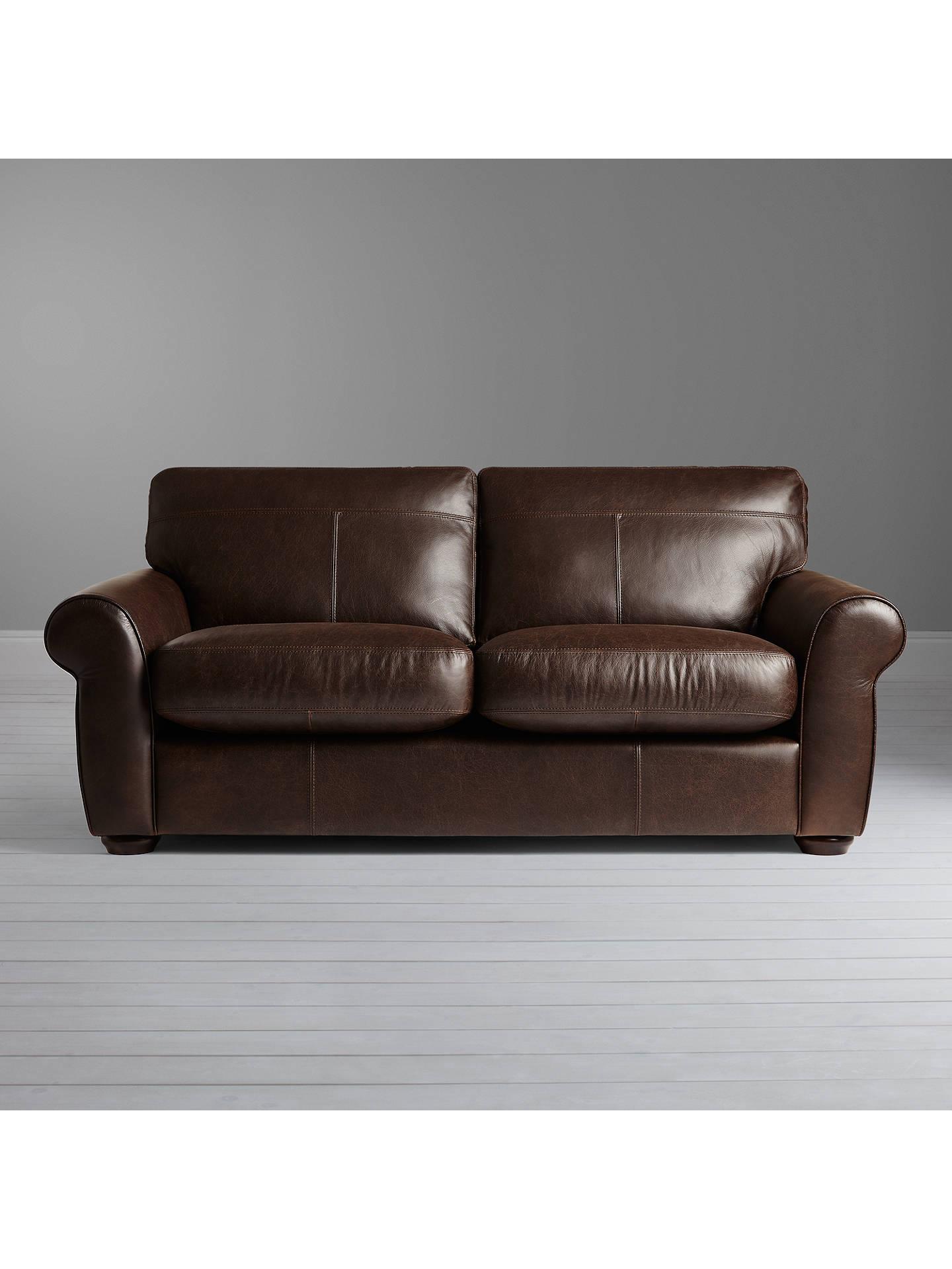 John Lewis Madison Semi Aniline Large Leather Sofa Colorado