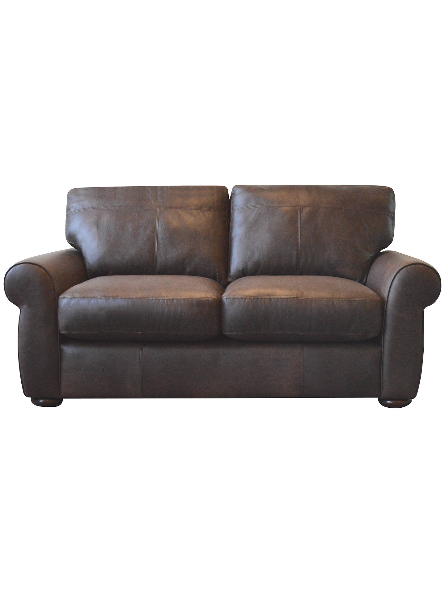 John Lewis Madison Semi Aniline Small Leather Sofa Colorado Online At Johnlewis