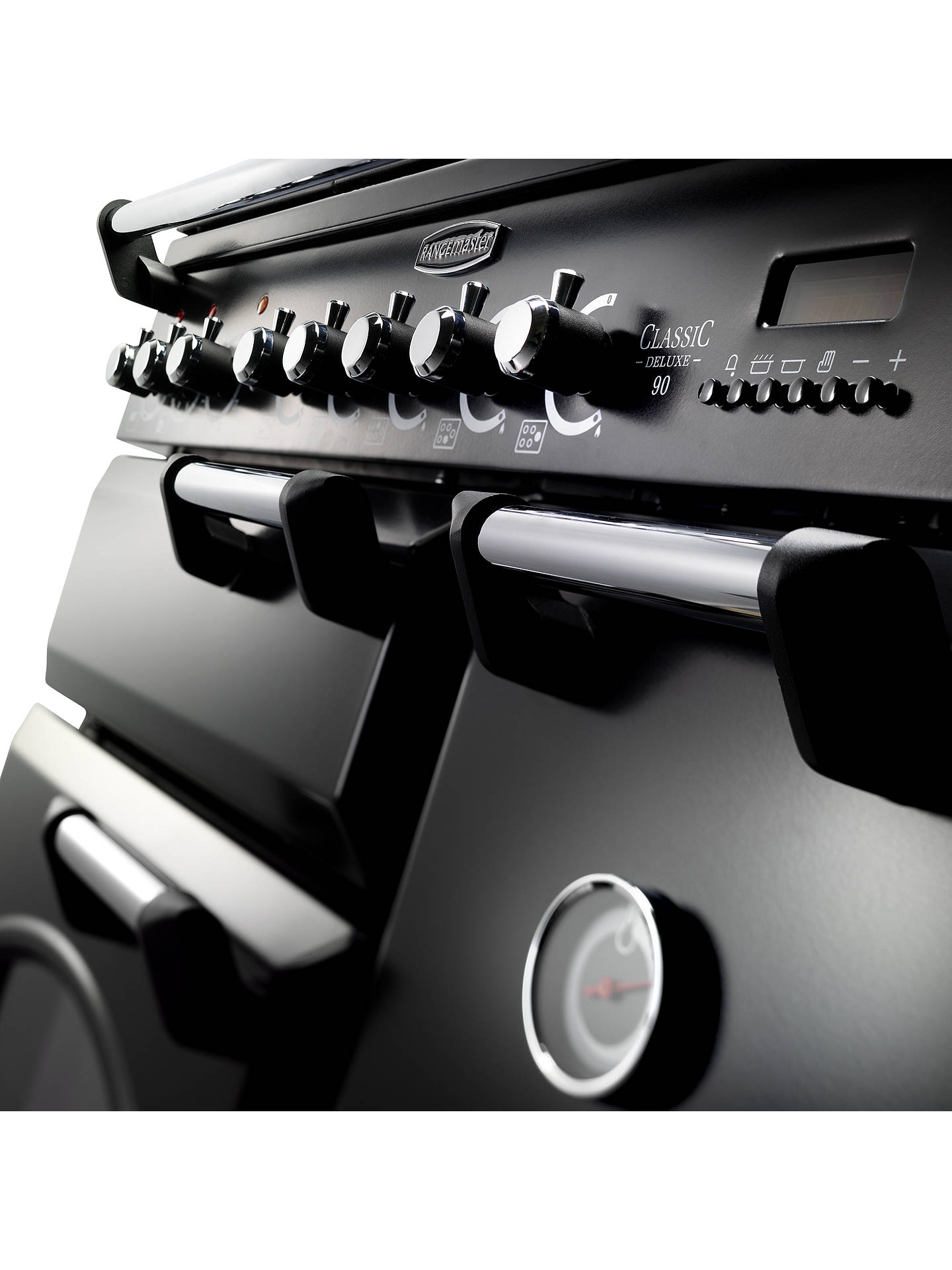 Buy Rangemaster Classic Deluxe 90 Electric Range Cooker, Black/Chrome Trim Online at johnlewis.com
