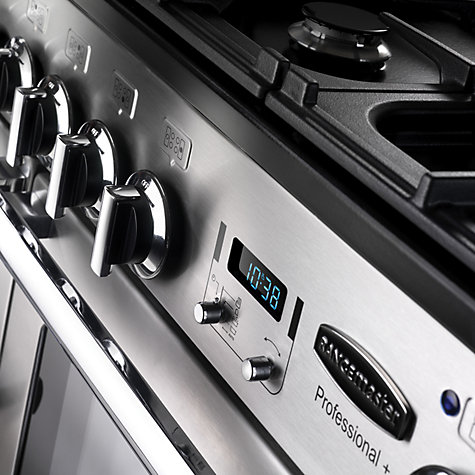 Buy Rangemaster Professional 110 Deluxe Dual Fuel Range Cooker, Stainless Steel Online at johnlewis.com