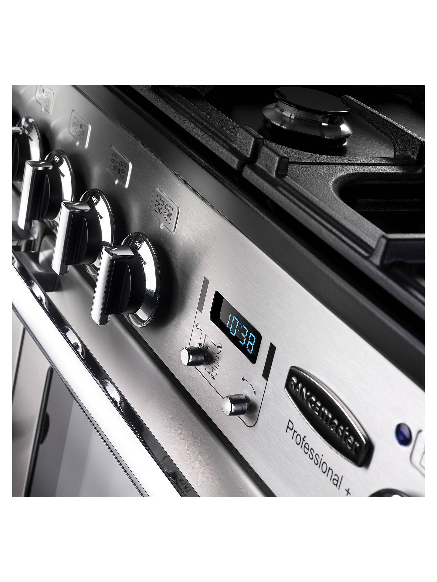 BuyRangemaster Professional Deluxe 110 Dual Fuel Range Cooker, Stainless Steel/Chrome Trim Online at johnlewis.com