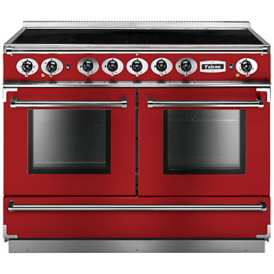 Falcon 1092 Continental Induction Hob Range Cooker, Cherry Red