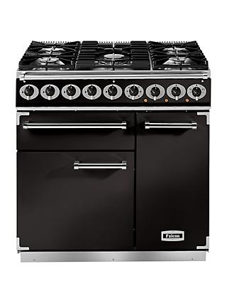 Falcon 900 Deluxe Dual Fuel Range Cooker, Matt Black
