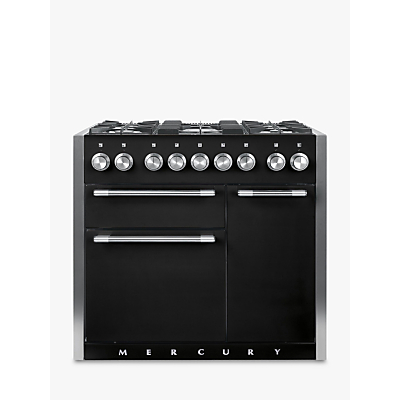 Mercury MCY1000DFAB Dual Fuel Range Cooker, Black