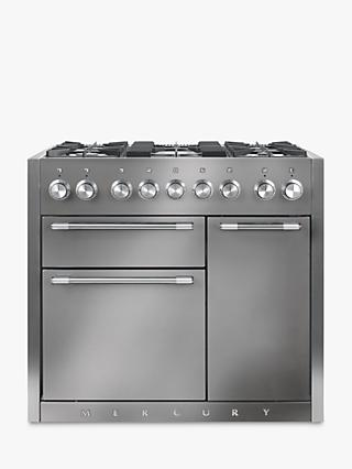 Mercury MCY1000DFSS Dual Fuel Range Cooker, Stainless Steel