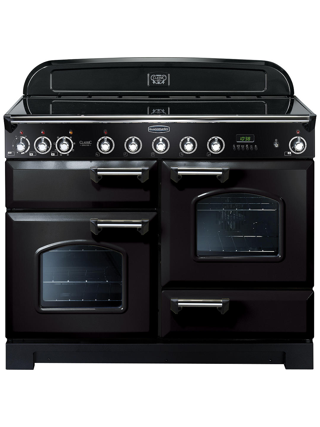 Buy Rangemaster Classic Deluxe 110 Induction Hob Range Cooker, Black/Chrome Trim Online at johnlewis.com