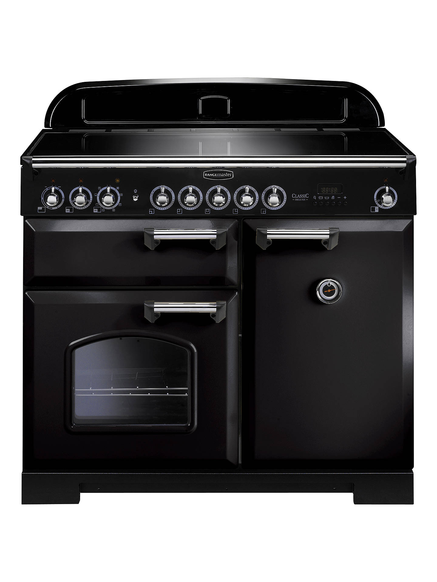 BuyRangemaster Classic Deluxe 100 Induction Hob Range Cooker, Black/Chrome Trim Online at johnlewis.com