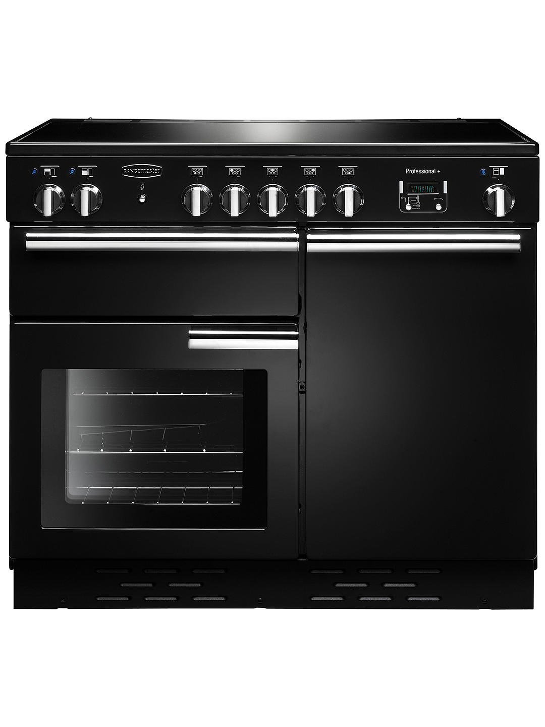 Buy Rangemaster Professional + 100 Induction Hob Range Cooker, Black/Chrome Trim Online at johnlewis.com