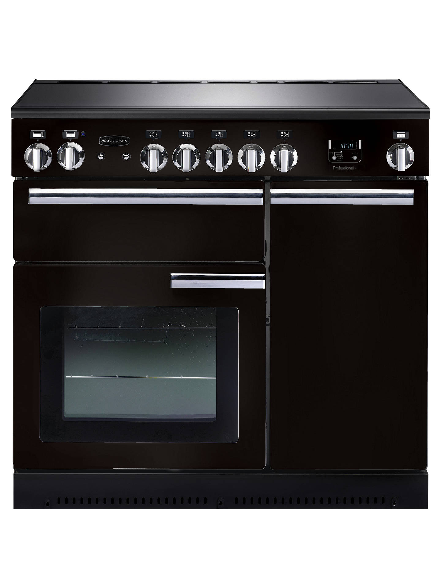BuyRangemaster Professional + 90 Electric Range Cooker, Black/Chrome Trim Online at johnlewis.com