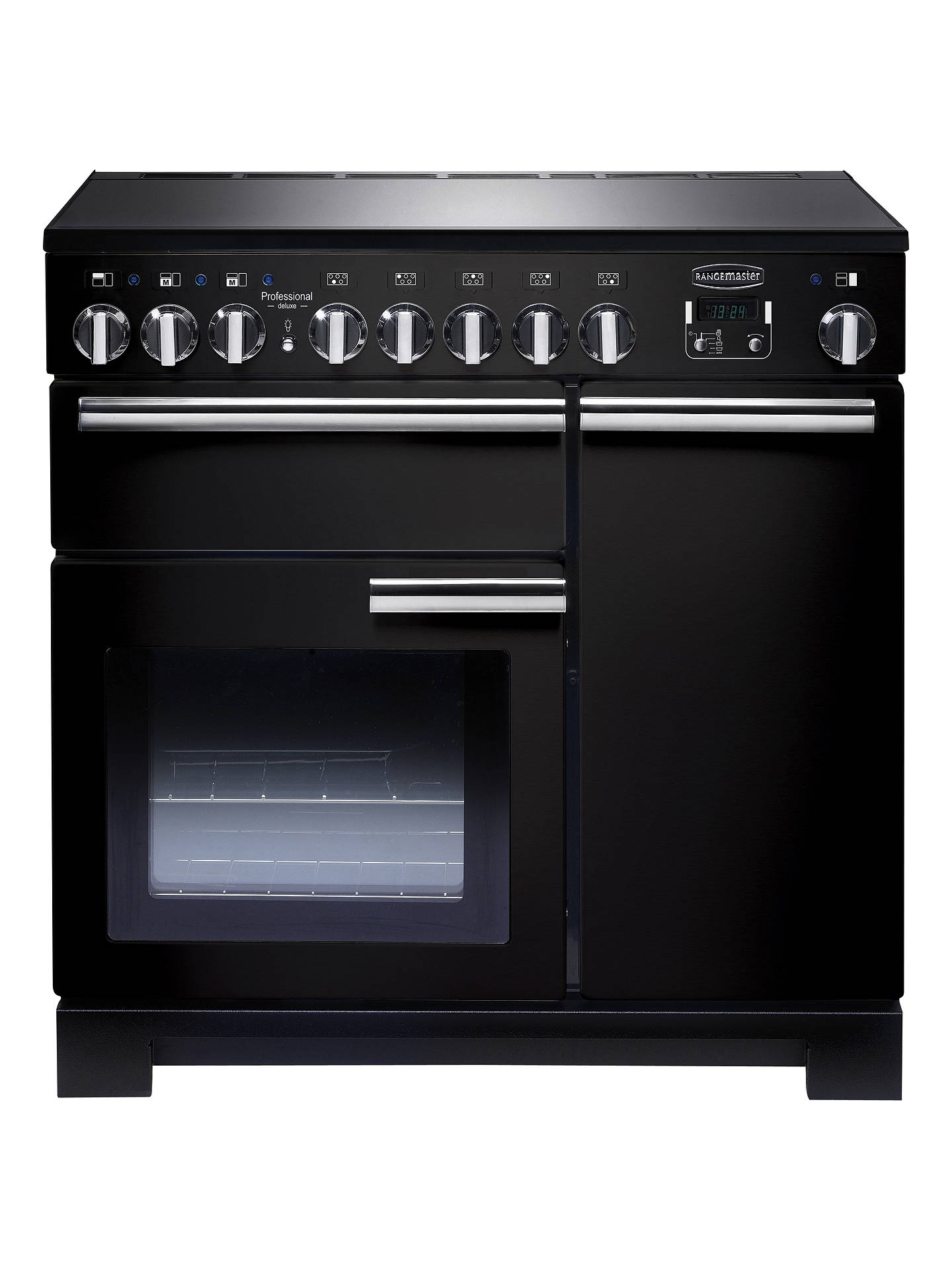 BuyRangemaster Professional Deluxe 90 Induction Hob Range Cooker, Black/Chrome Trim Online at johnlewis.com