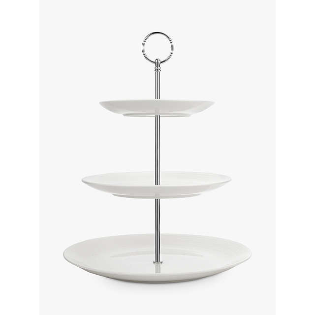 BuyJohn Lewis Croft Collection Luna 3 Tier Cake Stand, White Online at johnlewis.com