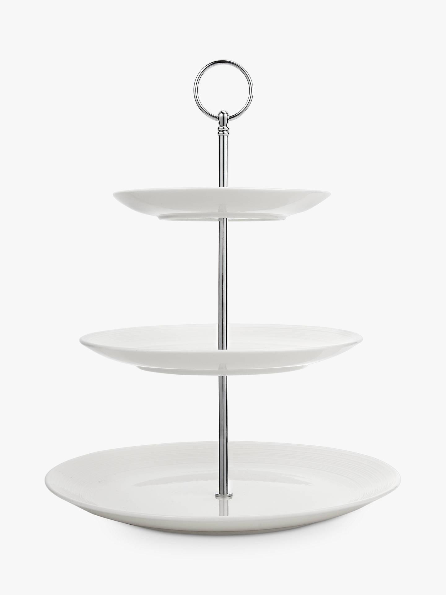 croft collection luna 3 tier cake stand natural at john. Black Bedroom Furniture Sets. Home Design Ideas