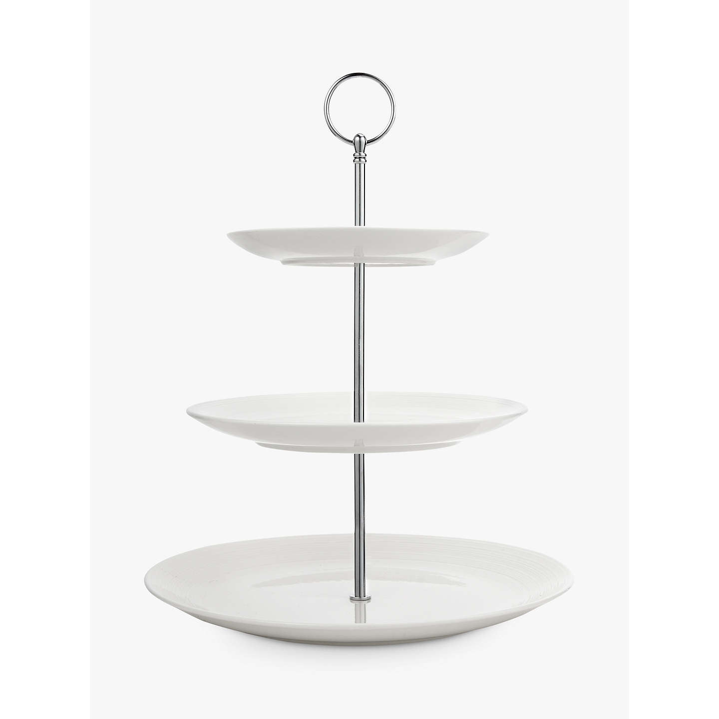 Croft Collection Luna 3 Tier Cake Stand White Online At Johnlewis
