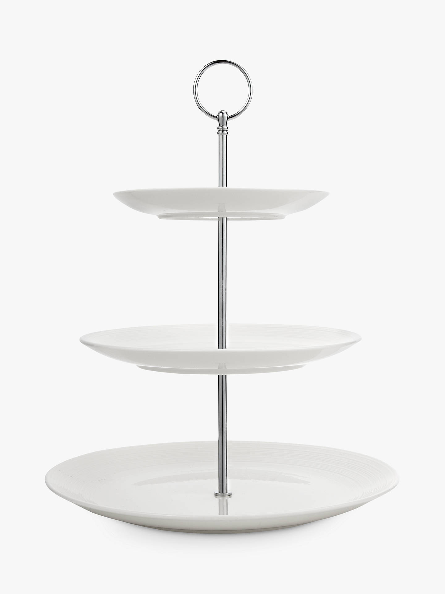 Croft Collection Luna 3 Tier Cake Stand Natural At John Lewis Partners