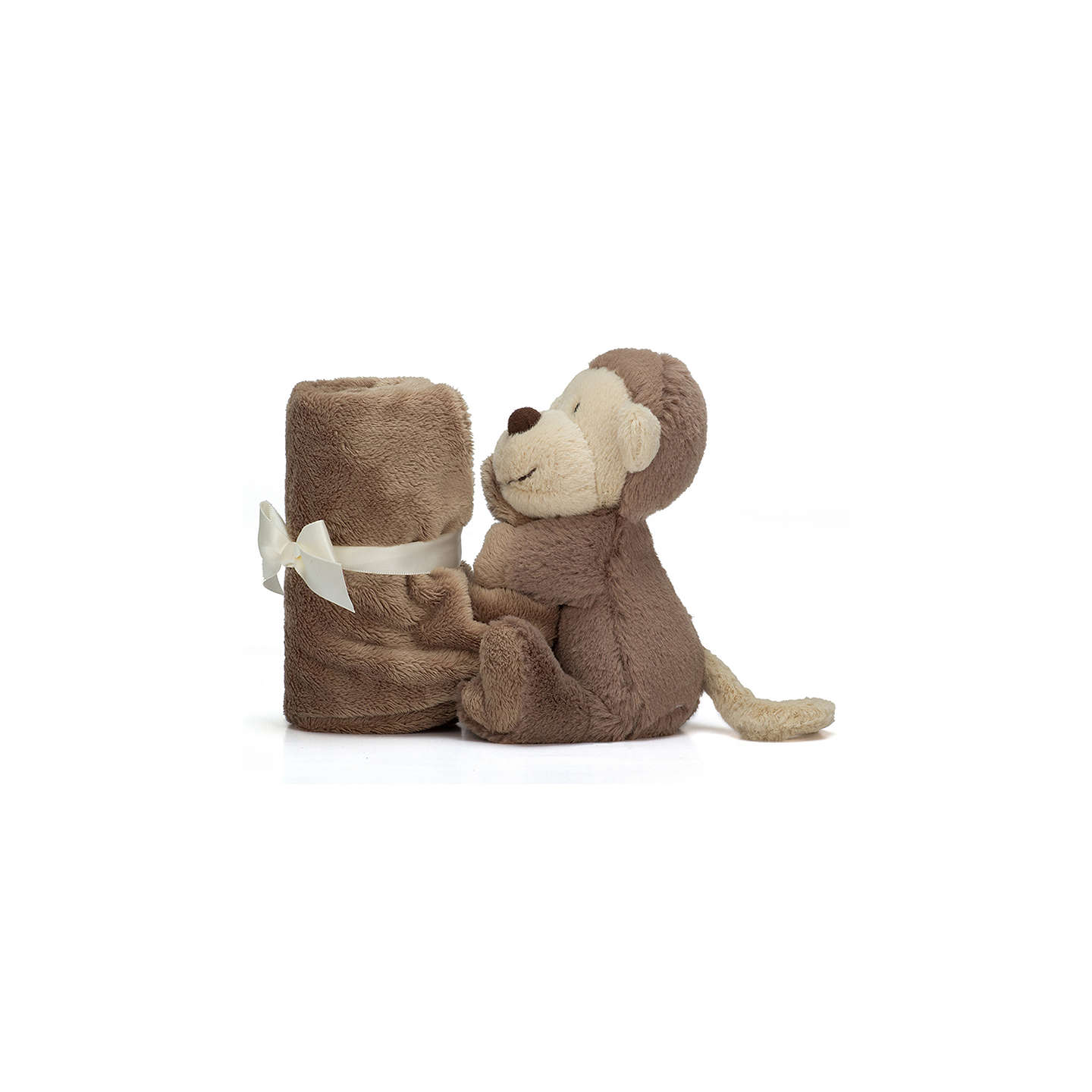 BuyJellycat Bashful Monkey Baby Soother Soft Toy, One Size, Brown Online at johnlewis.com