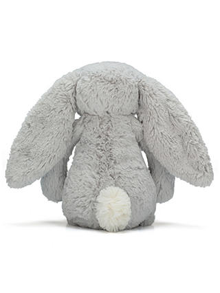 Buy Jellycat Bashful Bunny Soft Toy, Small, Silver Online at johnlewis.com
